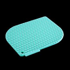 turquoise honeycomb pot holder