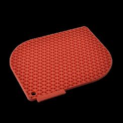 red honeycomb pot holder