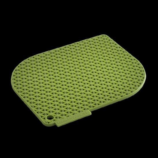 green honeycomb pot holder