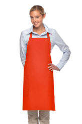 orange daystar apparel two pocket bib apron