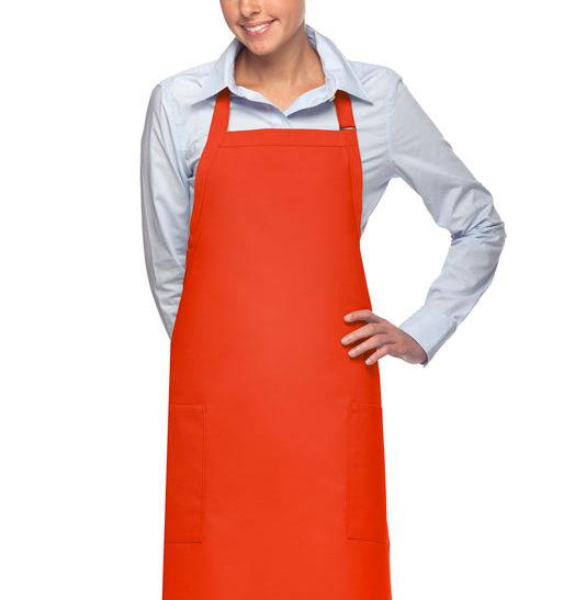 orange daystar apparel two pocket bib apron