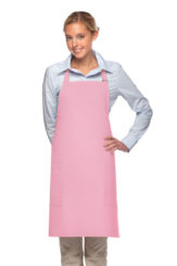pink daystar apparel two pocket bib apron