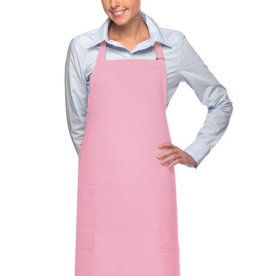 pink daystar apparel two pocket bib apron