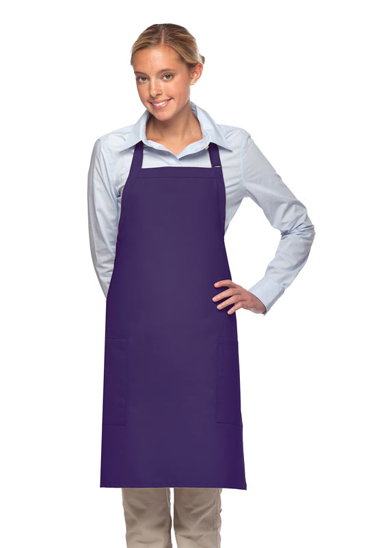 purple daystar two pocket bib apron