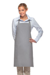 silver daystar apparel two pocket bib apron