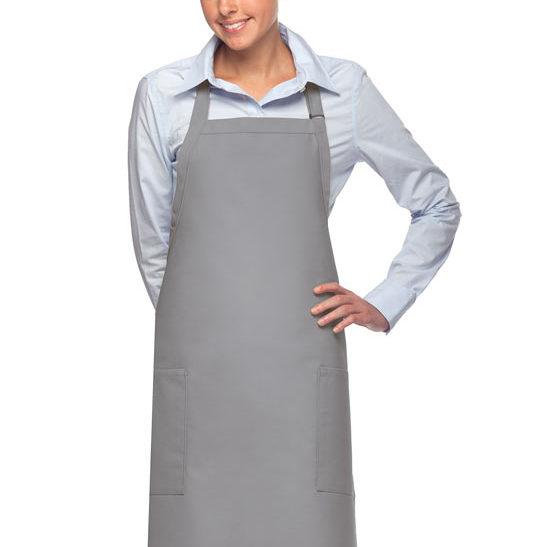 silver daystar apparel two pocket bib apron