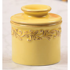 golden butter bell crock