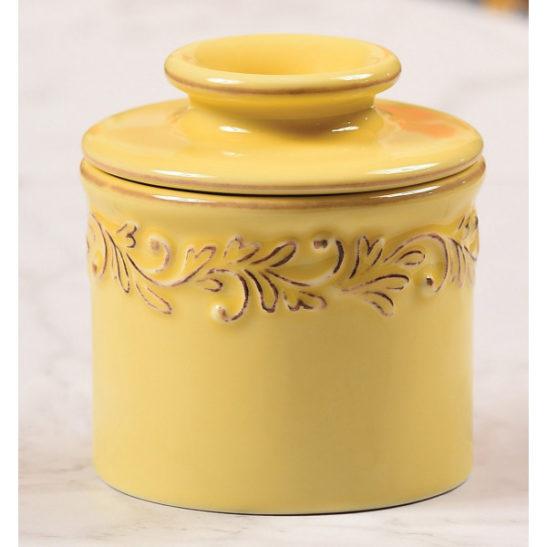 golden butter bell crock