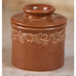 rust butter bell crock