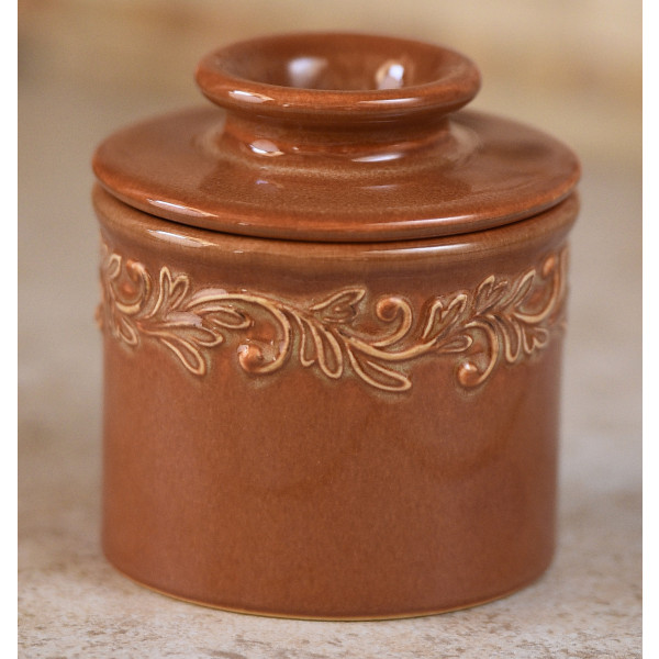 rust butter bell crock